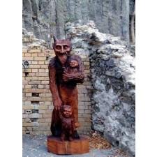 obrázek Dřevěná socha - velký čert