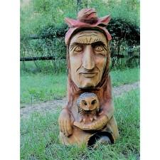 obrázek Dřevěná socha - Hodná babička