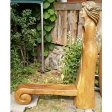 obrázek Dřevěná lavice z masivu - Dešťová víla