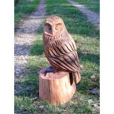 obrázek Dřevěná socha - malá sovička