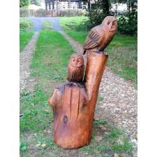 obrázek Dřevěná socha - Sovy pálené