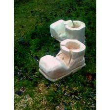 obrázek Dřevěný květináč z masivu velký - bota