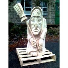 obrázek Dřevěná socha - Čarodějnice