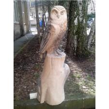 obrázek Dřevěná socha - Sova pálená III