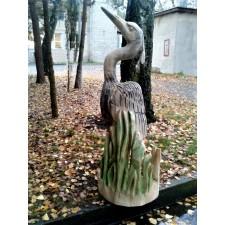 obrázek Dřevěná socha - volavka