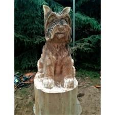 obrázek Dřevěná socha - Teriér