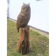 obrázek Dřevěná socha - Výr I
