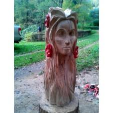 obrázek Dřevěná plastika - Dívka