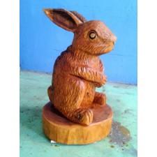 obrázek Dřevěná socha - Zajíc koledník