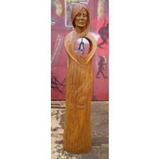 obrázek Dřevěná socha - Dívka (Zvonička)